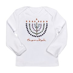Chanukah Menorah Long Sleeve Infant T-Shirt