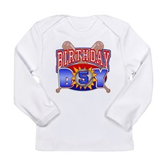 Baseball Boy 5th Birthday Long Sleeve Infant T-Shirt