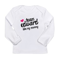 Team Edward Mommy Long Sleeve Infant T-Shirt