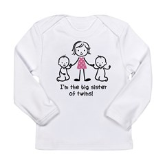 Big Sister of Twins Long Sleeve Infant T-Shirt
