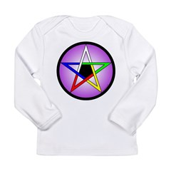 Elemental Pentacle Baby Creeper - 5 Elements Long Sleeve Infant T-Shirt