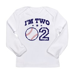 Two Year Old Baseball Long Sleeve Infant T-Shirt
