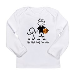 Big Cousin - Stick Characters Long Sleeve Infant T-Shirt