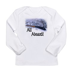 Trains Kids Long Sleeve Infant T-Shirt