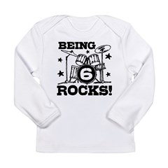 Cute 6th Birthday Long Sleeve Infant T-Shirt