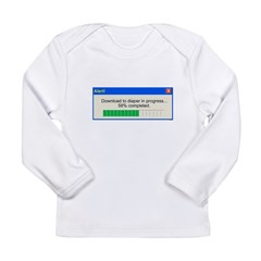 Download to diaper in progress Long Sleeve Infant T-Shirt