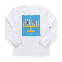 Veggie Hanukkah Long Sleeve Infant T-Shirt