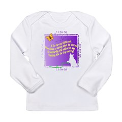 Kids C is for Cat Poetry Infant Creeper Long Sleeve Infant T-Shirt