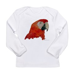 Scarlet Macaw Kids Long Sleeve Infant T-Shirt