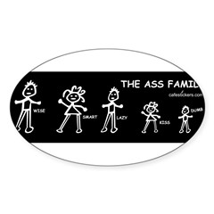 The Ass Family Sticker (Oval)