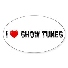 I * Show Tunes Sticker (Oval)