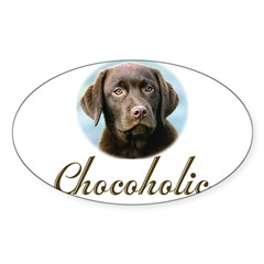 Chocoholic Rectangle Sticker (Oval)