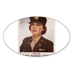 Army Nurse Corps Rectangle Sticker (Oval)