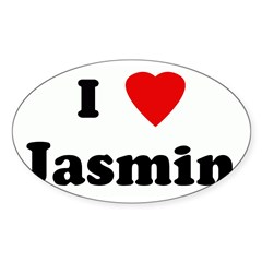 I Love Jasmin Sticker (Oval)