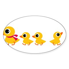 Distracted Duck Rectangle Sticker (Oval)