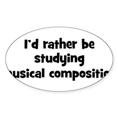 Study musical composition Sticker (Oval)