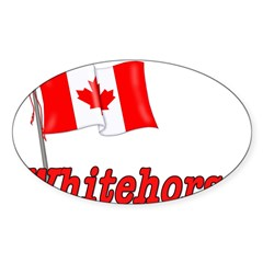 Canada Flag - Whitehorse Rectangle Sticker (Oval)