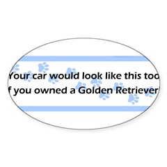 Your Car Golden Retriever Sticker (Oval)
