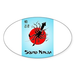 Squid Ninja Sticker (Oval)