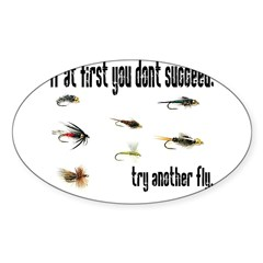 If at first you dont succeed, Sticker (Rectangular Sticker (Oval)