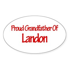 Proud Grandfather of Landon Sticker (Oval)