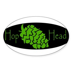 Hop Head Sticker (Oval)