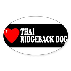 THAI RIDGEBACK DOG Sticker (Oval)