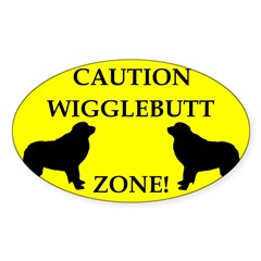 Wigglebutt Zone Sticker (Oval)
