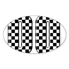 Race Car #00 Rectangle Sticker (Oval)