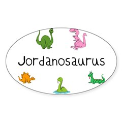 Jordanosaurus Rectangle Sticker (Oval)