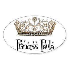 Princess Paula Rectangle Sticker (Oval)