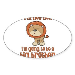 big brother t-shirts lion Rectangle Sticker (Oval)