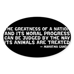 Quote - Greatness - Gandhi Rectangle Sticker (Oval)