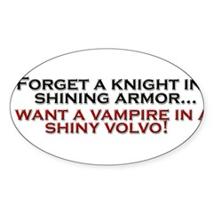 Shiny Volvo Sticker (Oval)