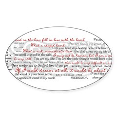 Twilight Quotes Sticker (Oval)
