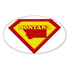 Super Star Montana Rectangle Sticker (Oval)