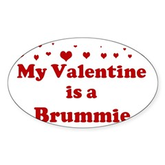 Brummie Valentine Sticker (Oval)
