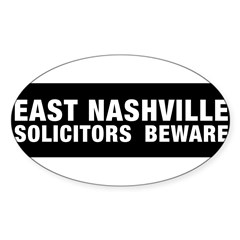 Solicitors beware Sticker (Oval)