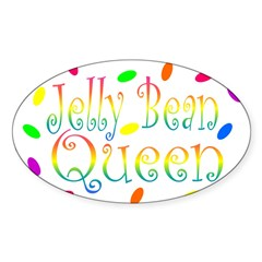 Jelly Bean Queen Rectangle Sticker (Oval)