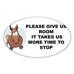 Pugpockets.com- Horse Sticker (Oval)