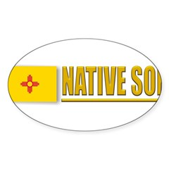 New Mexico Native Son Sticker (Oval)