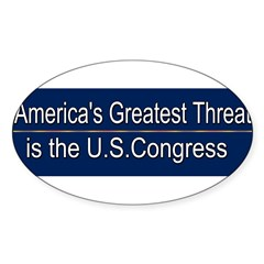 America's Greatest Threat Sticker (Oval)