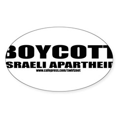 Boycott Apartheid Sticker (Oval)