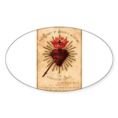 Sacred Heart of Jesu Sticker (Oval)