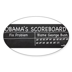 Obama Scoreboard Sticker (Oval)