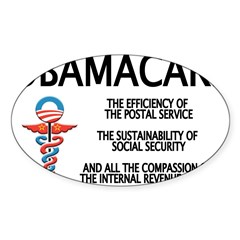 OBAMACARE II Rectangle Sticker (Oval)