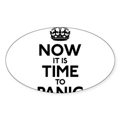 Time To Panic Sticker (Oval)