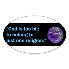 Big God I Sticker (Oval)