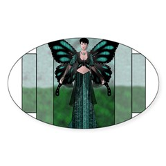 Etégina the Night Fairy Rectangle Sticker (Oval)