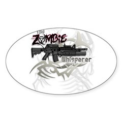 Zombie Whisperer Hunter M16 Sticker (Oval)